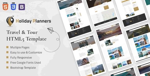 [Free Download] Holiday Planners – Travel & Tour HTML5 Template (Nulled) [Latest Version]