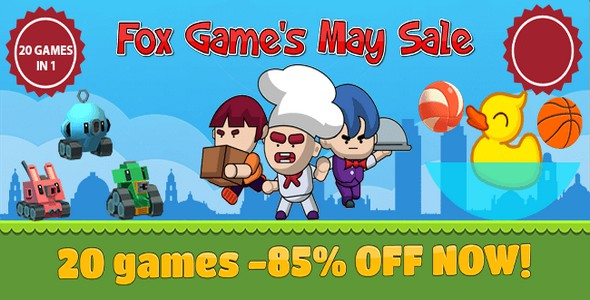 [Free Download] PACK Fox Game's May Sale Bundle Offer: 20 Top Trending Games (Nulled) [Latest Version]