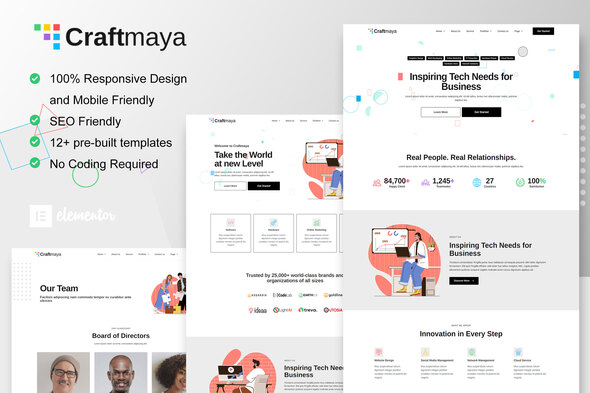 [Free Download] CraftMaya – IT Solutions & Services Company Elementor Template Kit (Nulled) [Latest Version]