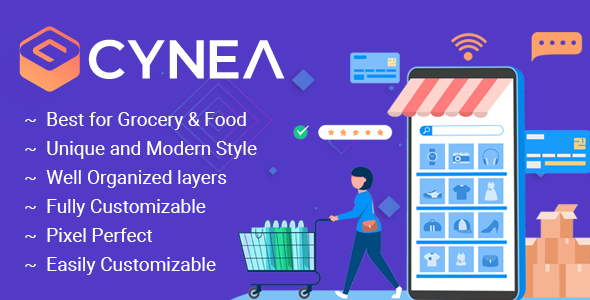 [Free Download] CYNEA – Mobile App PSD Template (Nulled) [Latest Version]