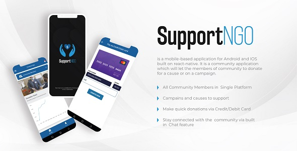 [Free Download] React Native Community Donation App – SupportNGo (Nulled) [Latest Version]