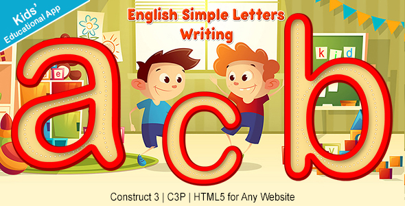 [Free Download] English Simple Letters Writing App (Construct 3 | C3P | HTML5) Kids Educational Game (Nulled) [Latest Version]
