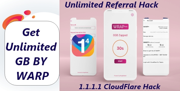 [Free Download] Android app for getting unlimitedWARP+data on Cloudflare's 1.1.1.1 (Nulled) [Latest Version]