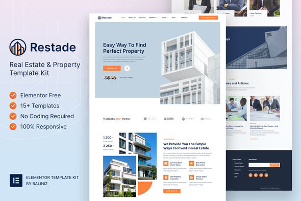 [Free Download] Restead – Real Estate & Property Elementor Template Kit (Nulled) [Latest Version]
