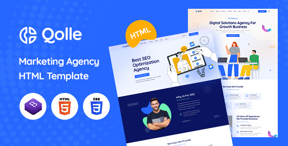[Free Download] Qolle – HTML Template for Digital Marketing Agency (Nulled) [Latest Version]