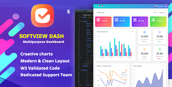 [Free Download] Softview – Admin Panel & Dashboard Template (Nulled) [Latest Version]