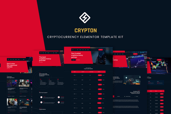[Free Download] Crypton – Cryptocurrency Elementor Template Kit (Nulled) [Latest Version]