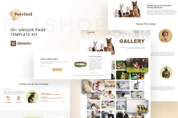 [Free Download] Purrfect – Pet Shop Elementor Template Kit (Nulled) [Latest Version]