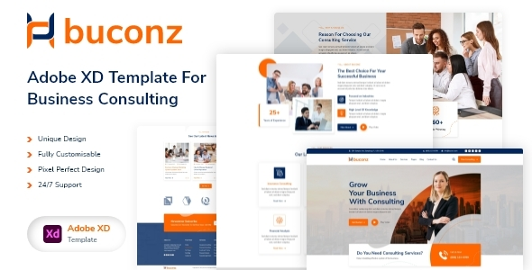 [Free Download] Buconz – Business Consulting XD Template (Nulled) [Latest Version]