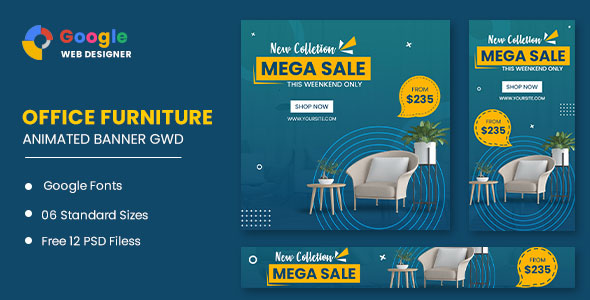[Free Download] Office Furniture Google Adwords HTML5 Banner Ads GWD (Nulled) [Latest Version]