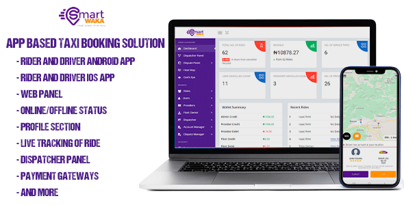 [Free Download] Smartwaka – Complete solution like Uber with webpanel (Nulled) [Latest Version]