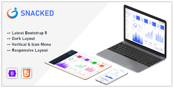 [Free Download] Snacked – Bootstrap 5 Admin Template (Nulled) [Latest Version]