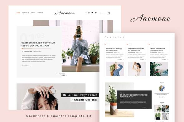 [Free Download] Anemone – Blog & Magazine Elementor Template Kit (Nulled) [Latest Version]
