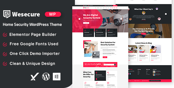 [Free Download] Wesecure – Home Security WordPress Theme (Nulled) [Latest Version]