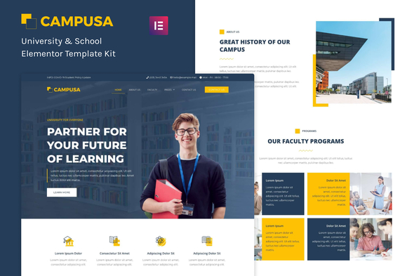 [Free Download] Campusa – University & School Elementor Template Kit (Nulled) [Latest Version]