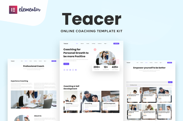 [Free Download] Teacer – Online Coaching Elementor Template Kit (Nulled) [Latest Version]