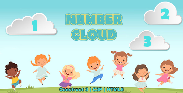[Free Download] Number Clouds Game (Construct 3   C3P   HTML5) Kids Educational Game (Nulled) [Latest Version]