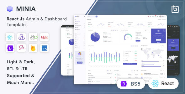 [Free Download] Minia – React Admin & Dashboard Template (Nulled) [Latest Version]