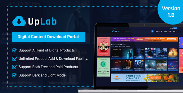 [Free Download] UpLab – Digital Content Download Portal (Nulled) [Latest Version]