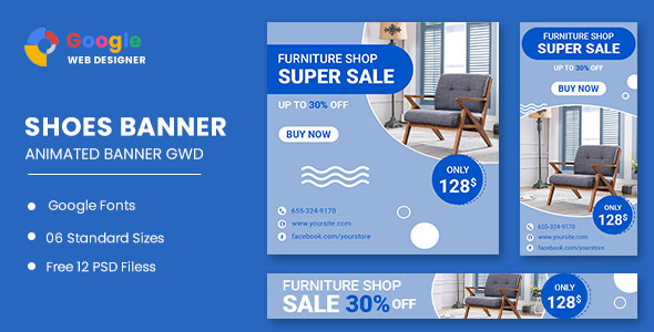 [Free Download] Furniture Sale HTML5 Banner Ads GWD (Nulled) [Latest Version]