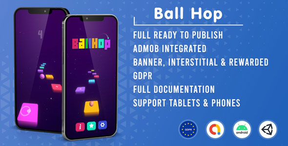 [Free Download] Ball Hop (Unity Game + Admob + GDPR) (Nulled) [Latest Version]