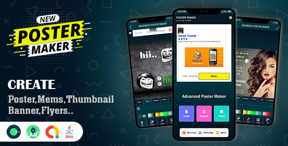 [Free Download] Advanced Poster & Memes Maker App Source Code (Nulled) [Latest Version]