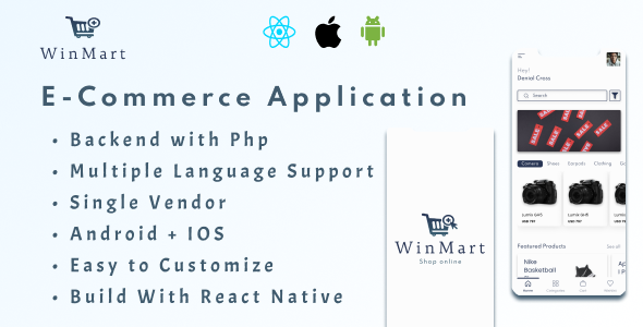 [Free Download] [PRE-BOOKING SALE] Winmart – E-Commerce Application(Android + IOS) + Admin Panel (Nulled) [Latest Version]