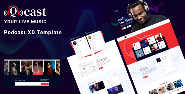 [Free Download] Qcast – Podcast XD Template (Nulled) [Latest Version]