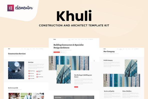 [Free Download] Khuli – Construction & Architecture Elementor Template Kit (Nulled) [Latest Version]