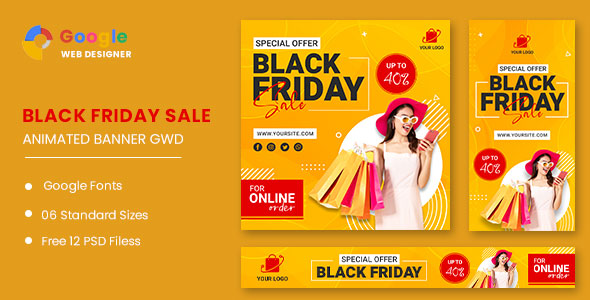 [Free Download] Black Friday Sale HTML5 Banner Ads GWD (Nulled) [Latest Version]