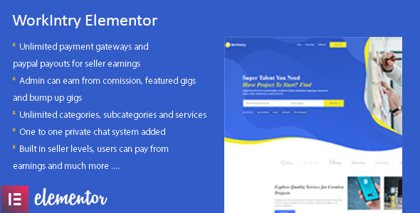 [Free Download] Workintry – Freelance and Job Board Elementor Extension WordPress Plugin (Nulled) [Latest Version]