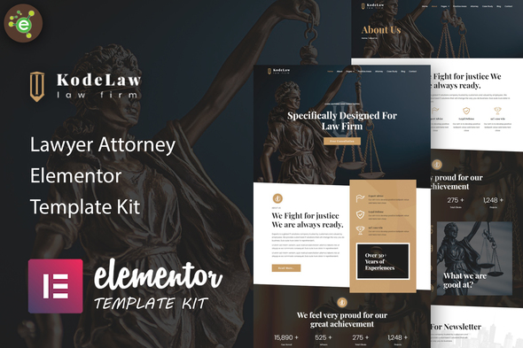 [Free Download] Kodelaw – Lawyer Attorney Elementor Template Kit (Nulled) [Latest Version]