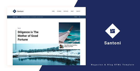 [Free Download] Santoni – Blog and Magazine HTML Template (Nulled) [Latest Version]