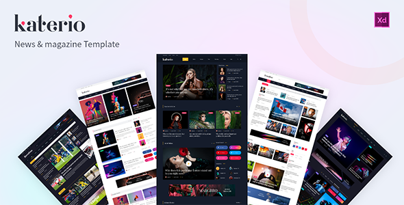 [Free Download] Katerio – News Magazine XD Template (Nulled) [Latest Version]