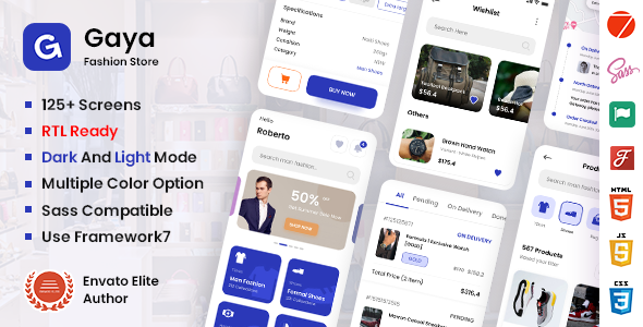 [Free Download] Gaya – Fashion Mobile App Template (Nulled) [Latest Version]