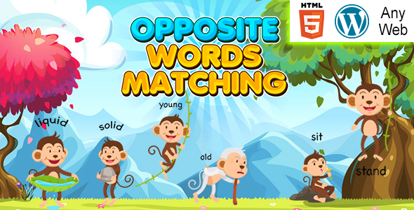 [Free Download] Opposite Words Matching Kids Learning Game (HTML5) Educational Game (Nulled) [Latest Version]