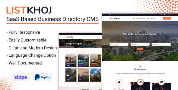 [Free Download] Listkhoj – SaaS Based Business Directory CMS (Nulled) [Latest Version]