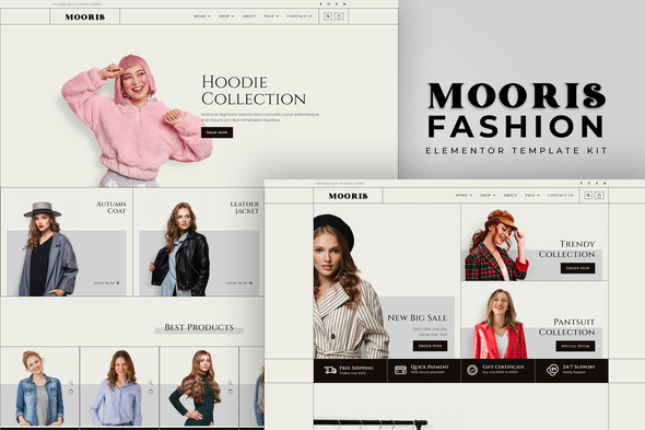 [Free Download] Mooris – WooCommerce Fashion Elementor Template Kit (Nulled) [Latest Version]