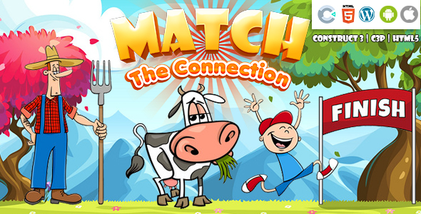 [Free Download] Match the Connection (Construct 3   C3P   HTML5) Kids Educational Game (Nulled) [Latest Version]