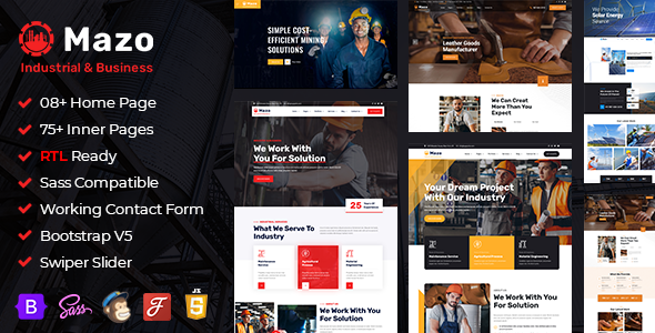 [Free Download] Mazo – Industry & Factory HTML Template (Nulled) [Latest Version]