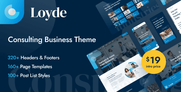 [Free Download] Loyde – Consulting Business WordPress Theme (Nulled) [Latest Version]