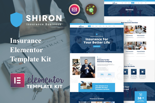[Free Download] Shiron – Insurance Elementor Template Kit (Nulled) [Latest Version]