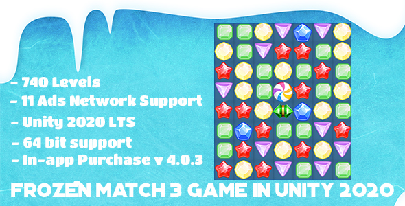[Free Download] Frozen Match 3 Game in Unity 2020 LTS (Nulled) [Latest Version]