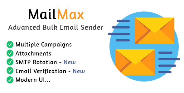 [Free Download] MailMax : Advanced Bulk Email Sender (Nulled) [Latest Version]
