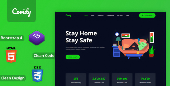 [Free Download] Covidy – Responsive Onepage HTML Template (Nulled) [Latest Version]
