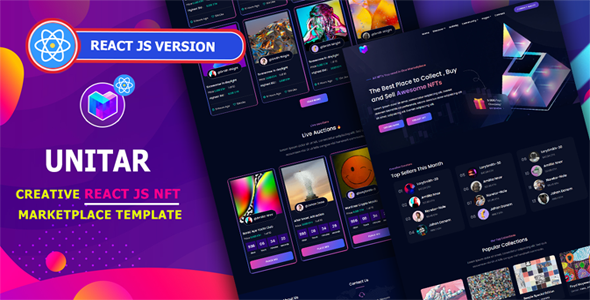 [Free Download] Unitar – React NFT Marketplace Template (Nulled) [Latest Version]