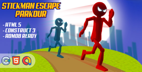 [Free Download] Stickman Escape Parkour – (HTML5 Game – Construct 3 – Admob) (Nulled) [Latest Version]