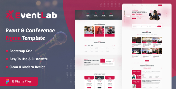 [Free Download] Eventlab – Event & Conference Organization Figma Template (Nulled) [Latest Version]