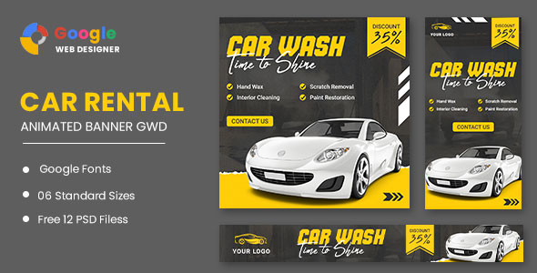 [Free Download] Car Wash HTML5 Banner Ads GWD (Nulled) [Latest Version]