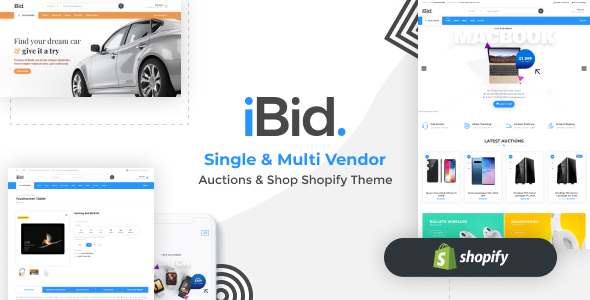 [Free Download] iBid – Single & Multi Vendor Auctions Shopify Theme (Nulled) [Latest Version]